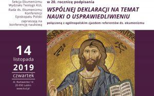 20 lat Wspólnej Deklaracji o Usprawiedliwieniu – konferencja w Lublinie – 14.11.2019